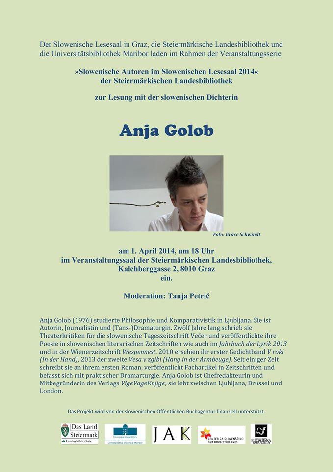 1a Anja Golob, Vabilo