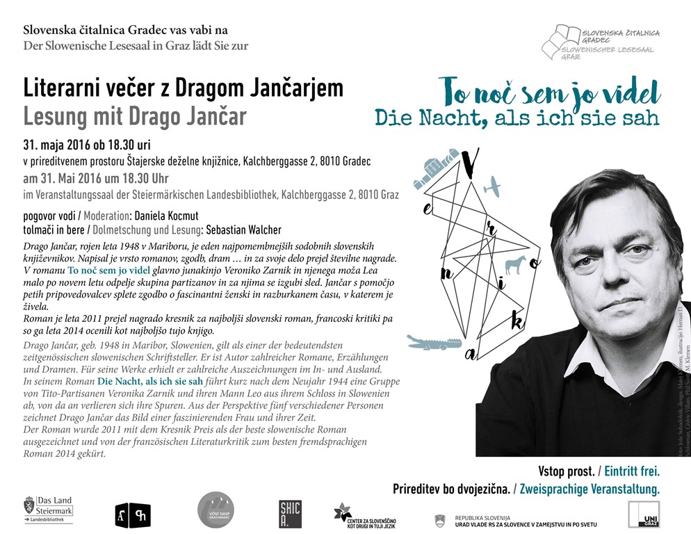 31. maj 2016 | Literarni večer z Dragom Jančarjem