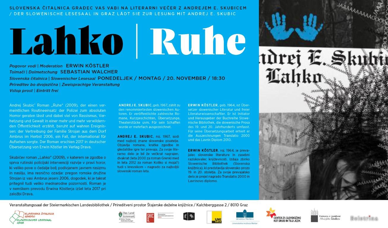 20. November 2017 | Lesung mit Andrej. E. Skubic