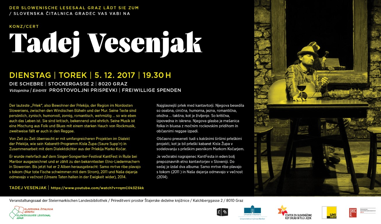 5. december 2017 | Tadej Vesenjak – koncert