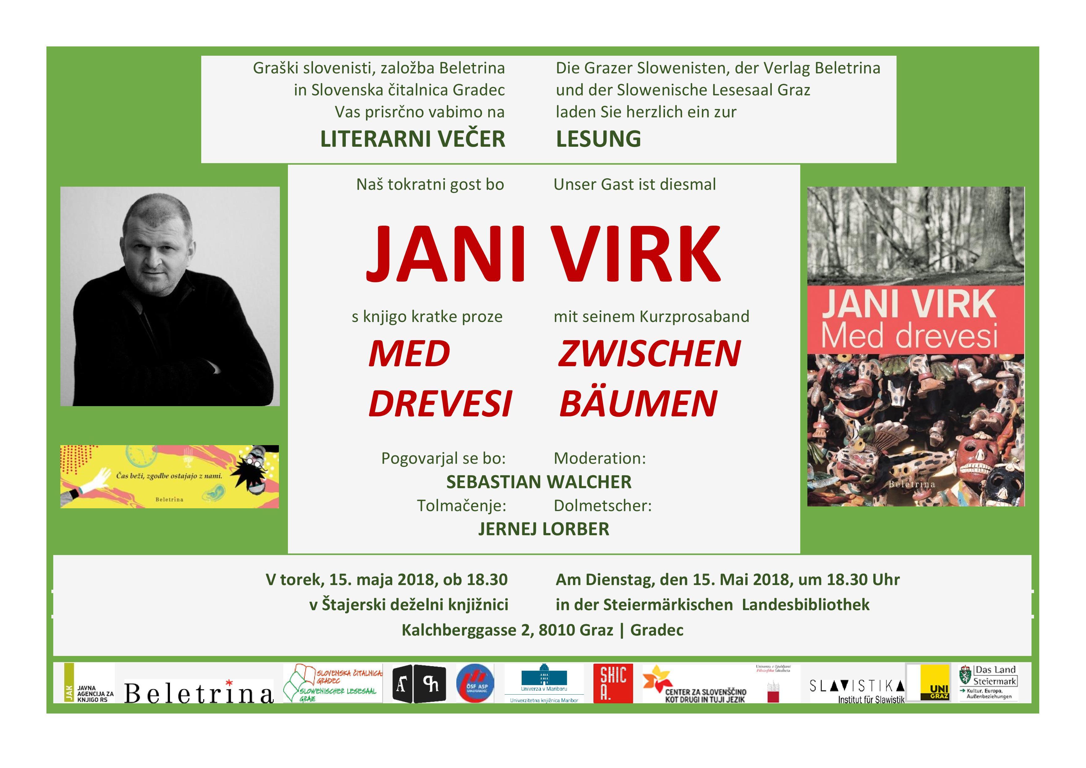 15. maj 2018 | Literarni večer z Janijem Virkom